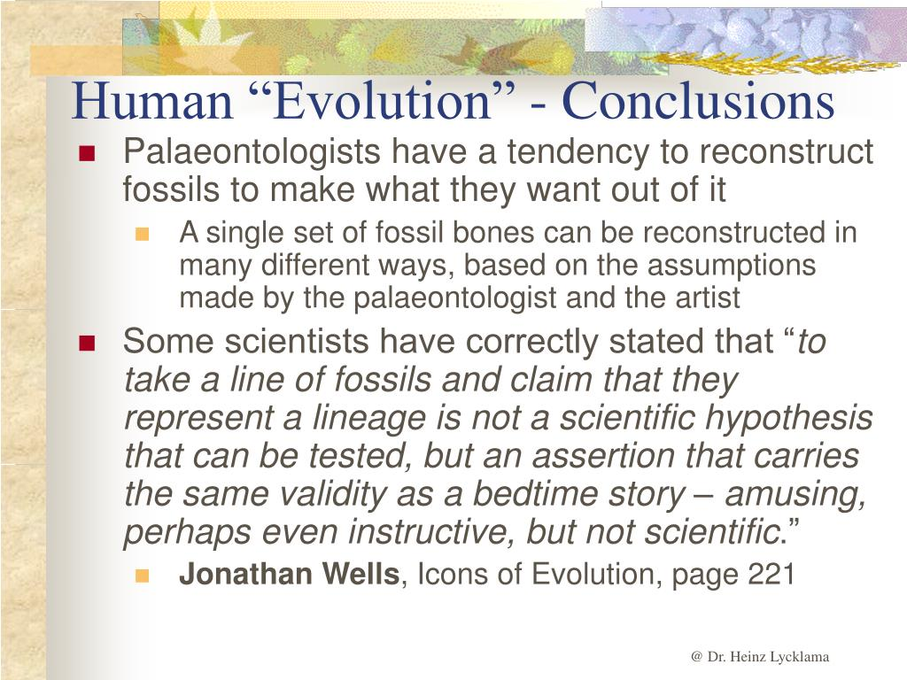 "Human ""Evolution"" - Conclusions"