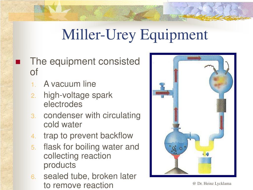 Miller-Urey Equipment