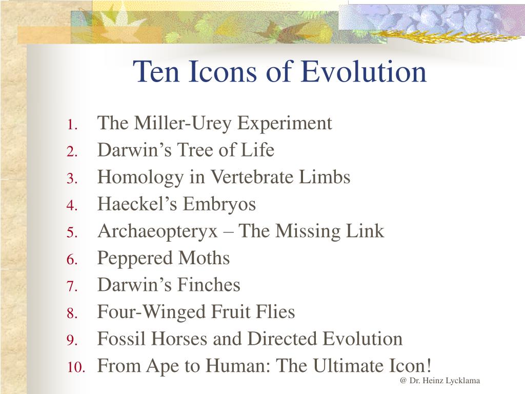 Ten Icons of Evolution