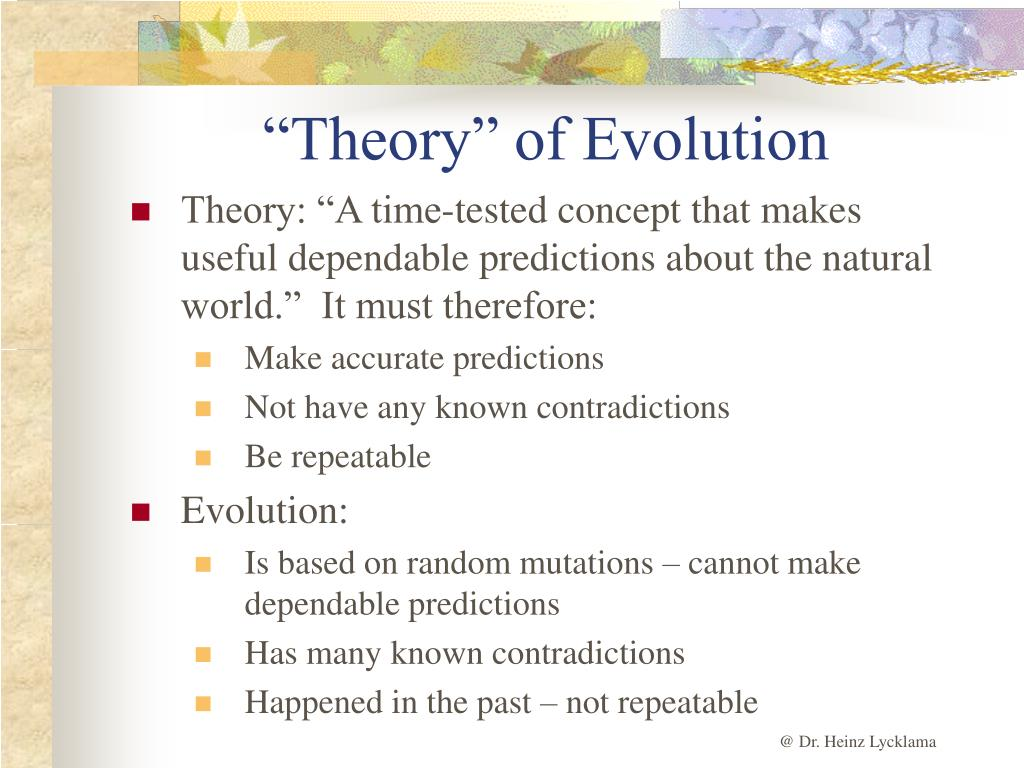 """Theory"" of Evolution"