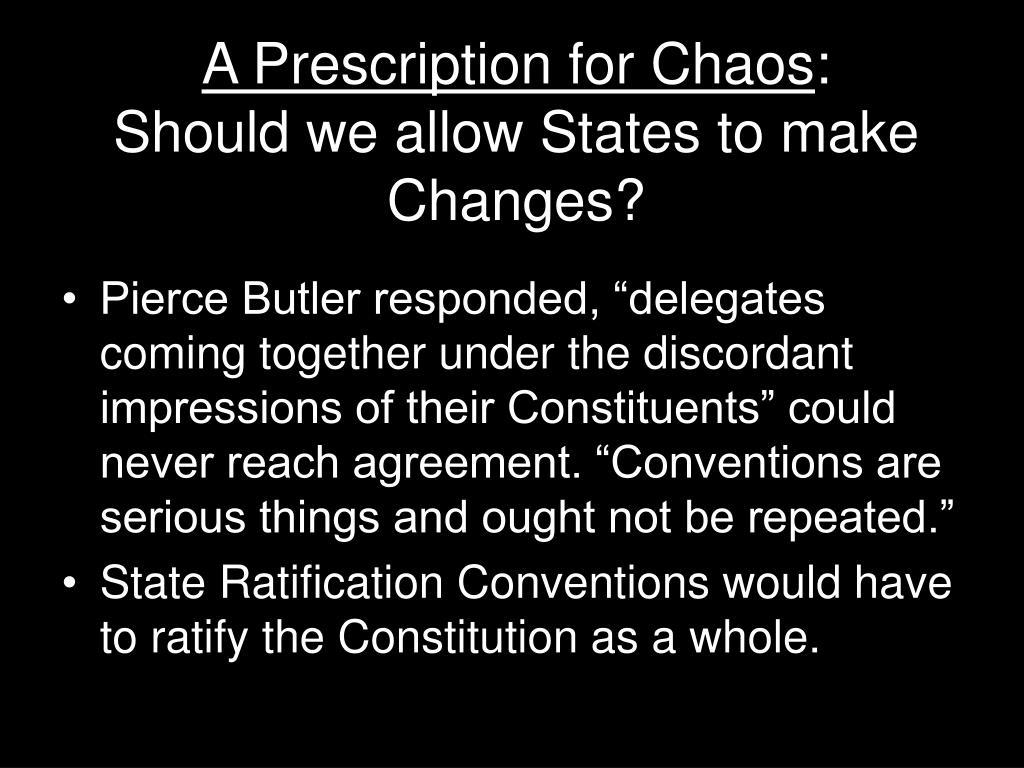 A Prescription for Chaos