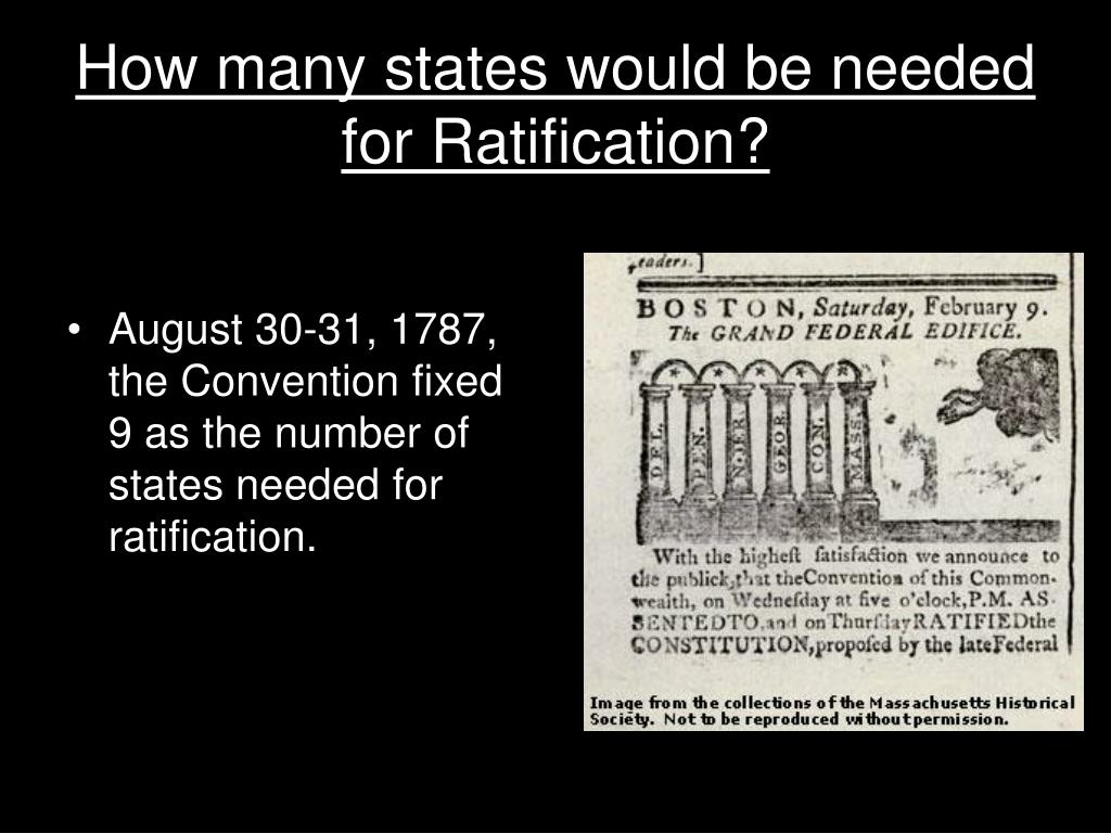 How many states would be needed for Ratification?