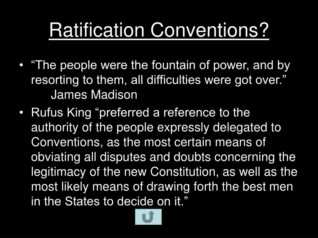 Ratification Conventions?