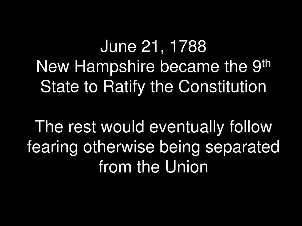 June 21, 1788