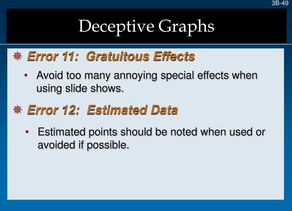 Deceptive Graphs