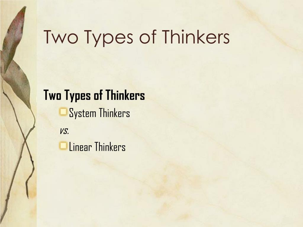 Types of thinkers