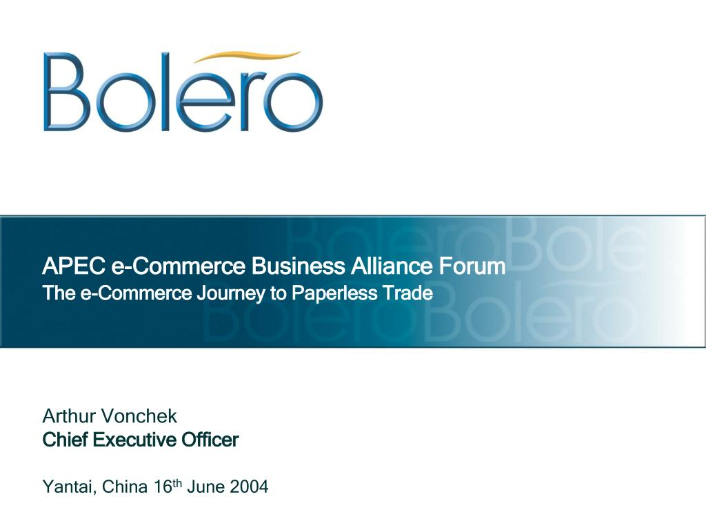APEC e-Commerce Business Alliance Forum
