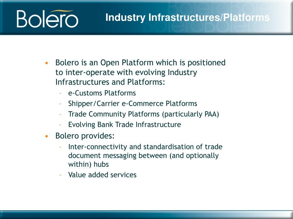 Industry Infrastructures/Platforms