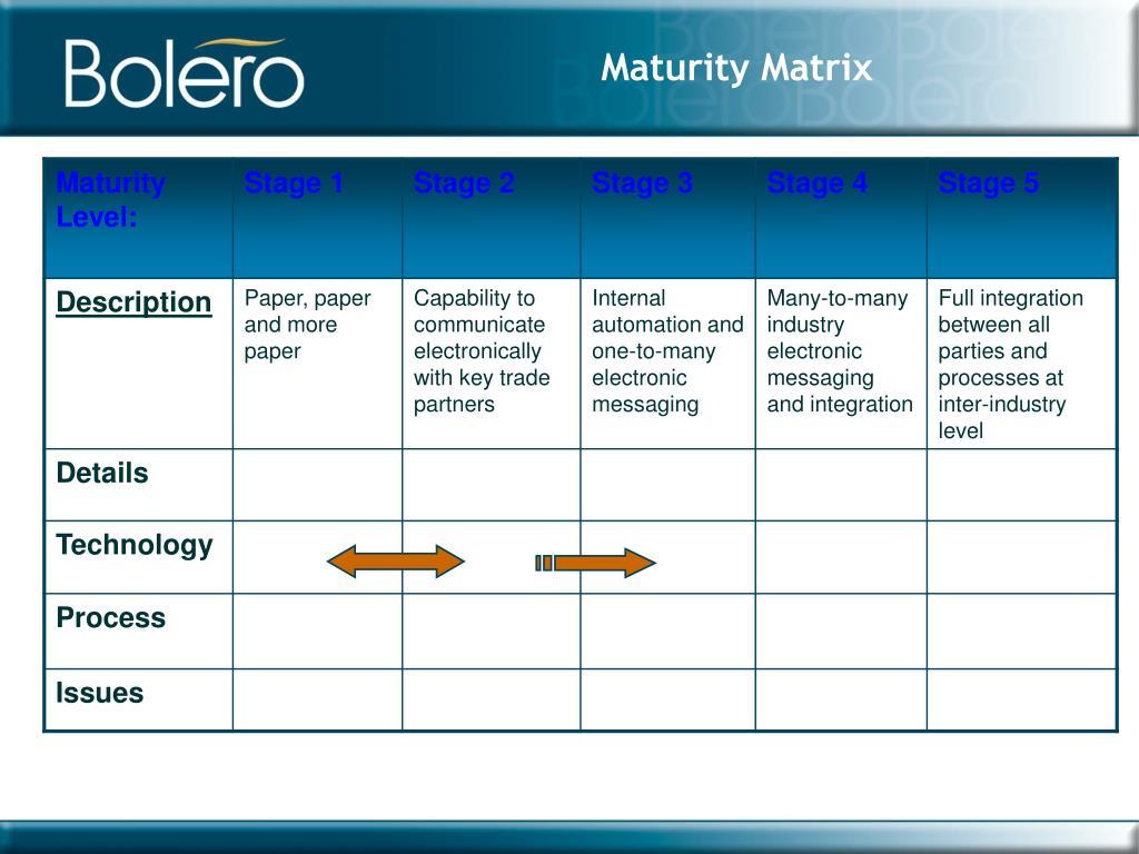 Maturity Matrix