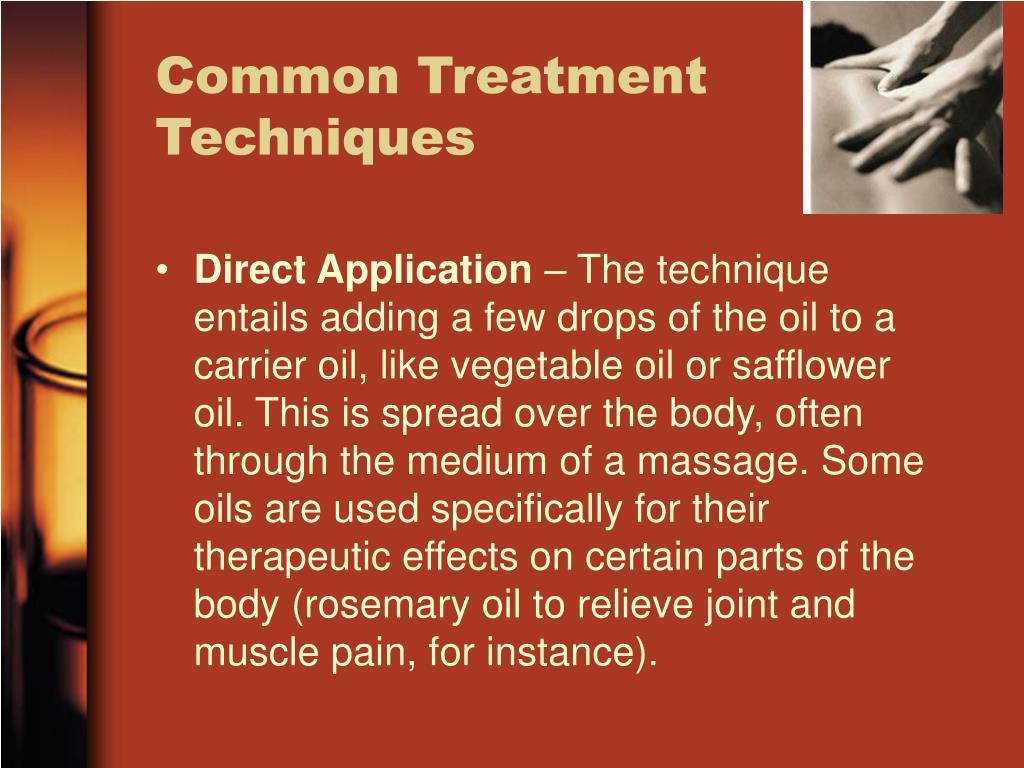 Common Treatment Techniques