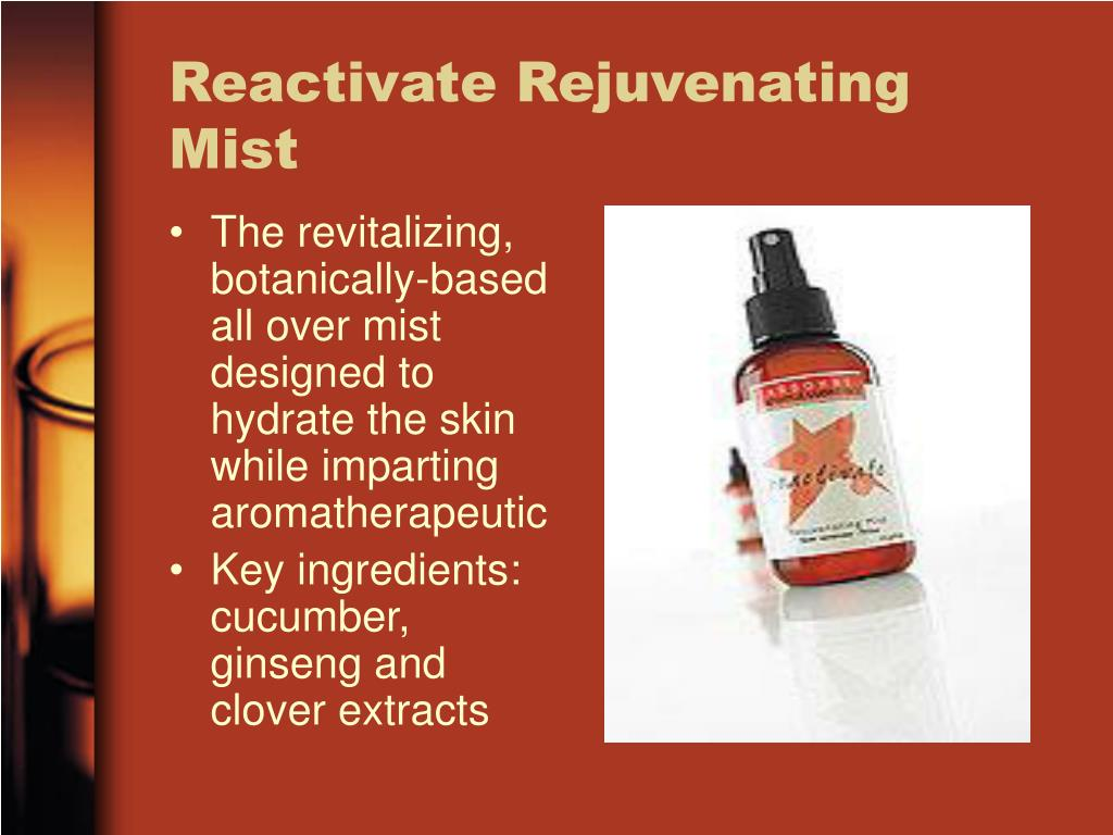 The revitalizing, botanically-based all over mist designed to hydrate the skin while imparting aromatherapeutic