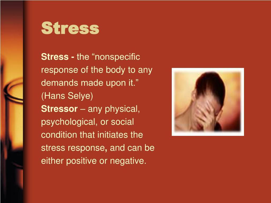 Stress -