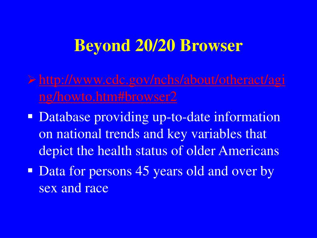 Beyond 20/20 Browser