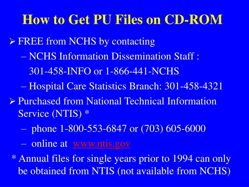 How to Get PU Files on CD-ROM