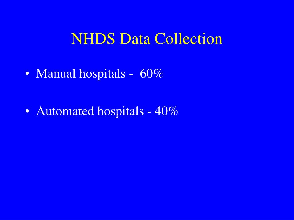 NHDS Data Collection