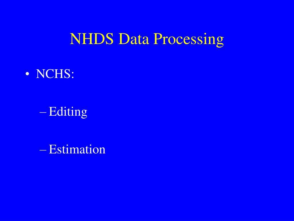 NHDS Data Processing