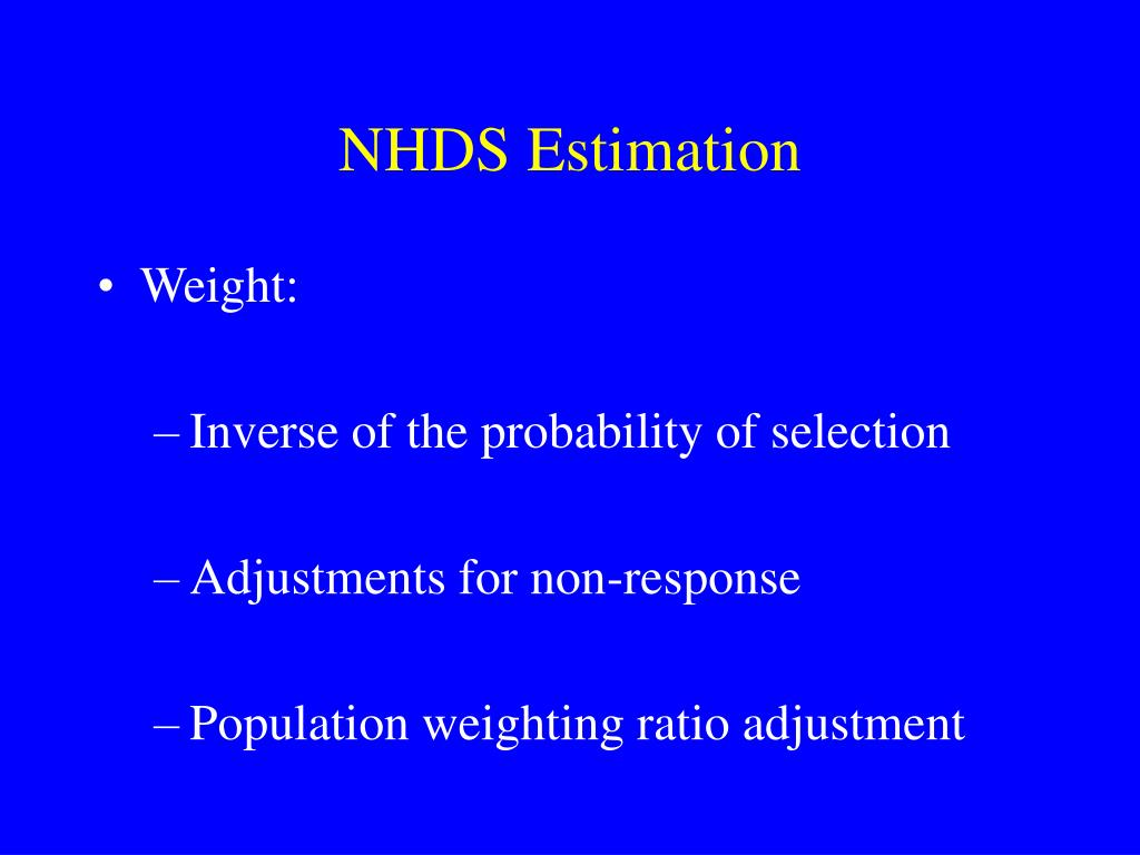 NHDS Estimation