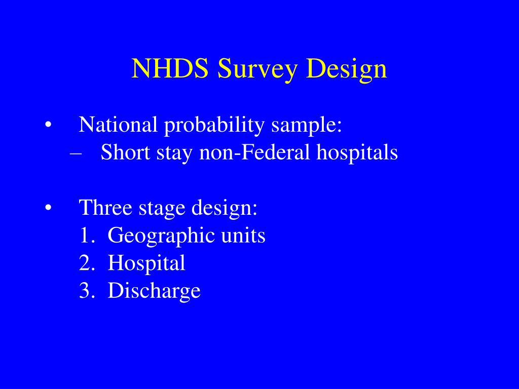 NHDS Survey Design