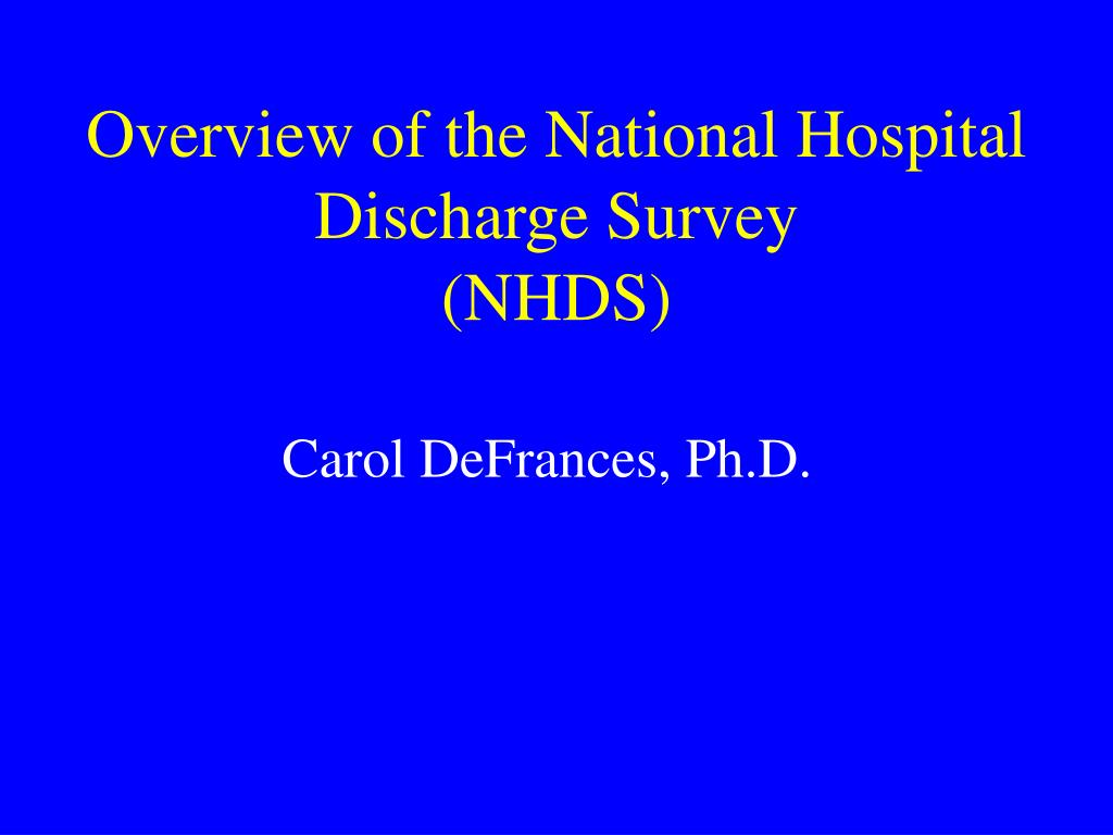 Overview of the National Hospital Discharge Survey