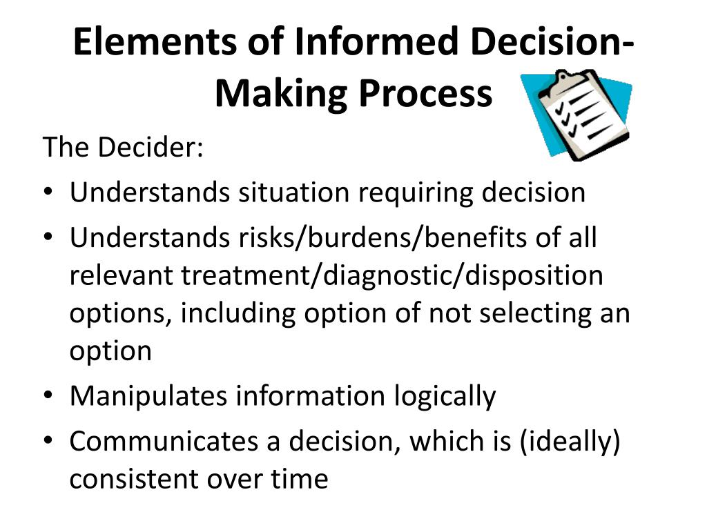 Elements of Informed Decision-Making Process