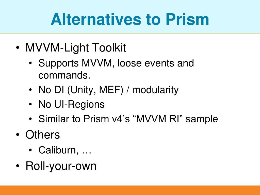 Alternatives to Prism