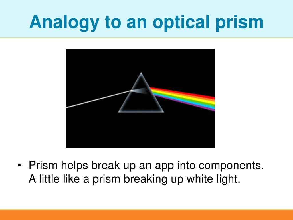 Analogy to an optical prism