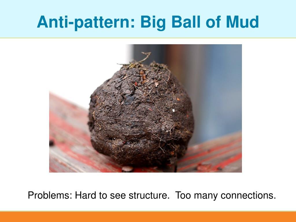 Anti-pattern: Big Ball of Mud
