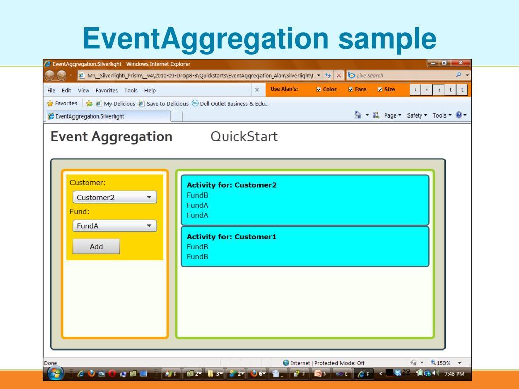 EventAggregation sample