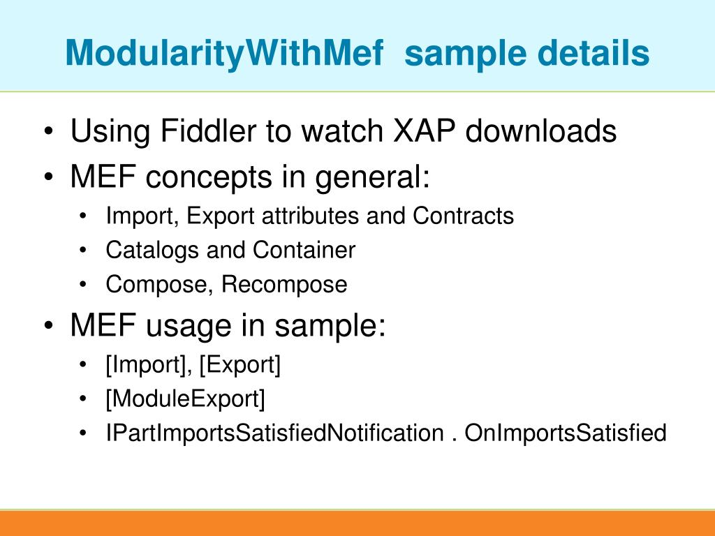 ModularityWithMef  sample details