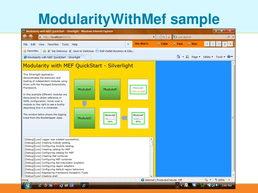 ModularityWithMef sample