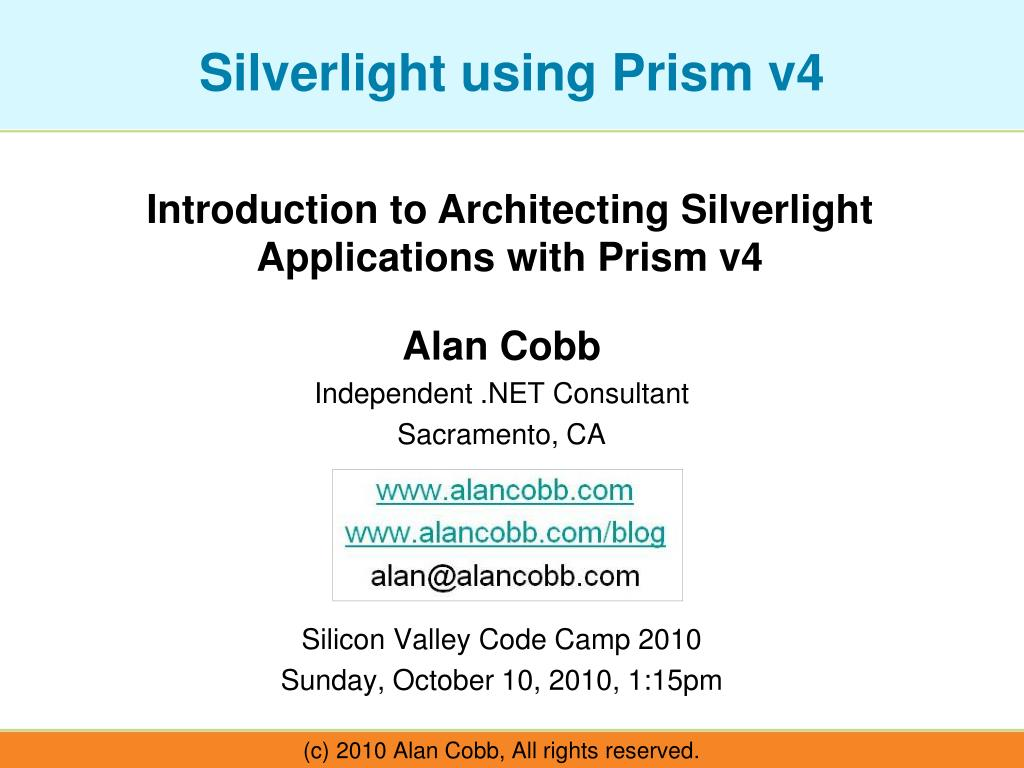 Introduction to Architecting Silverlight