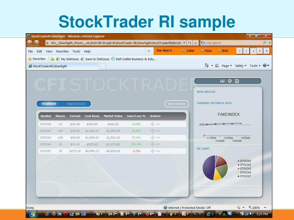 StockTrader RI sample