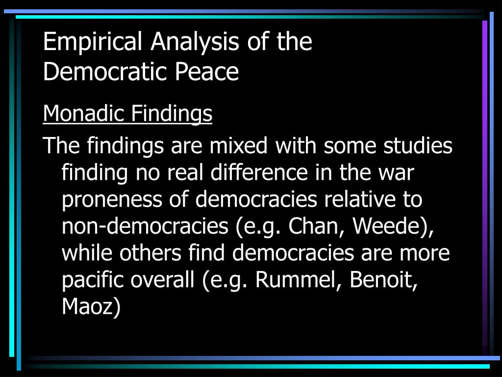 an analysis of the peace The trigger events for a peace agreement for ukraine may look rather different from those conventionally found in the armoury of the peacekeeper the main key in.