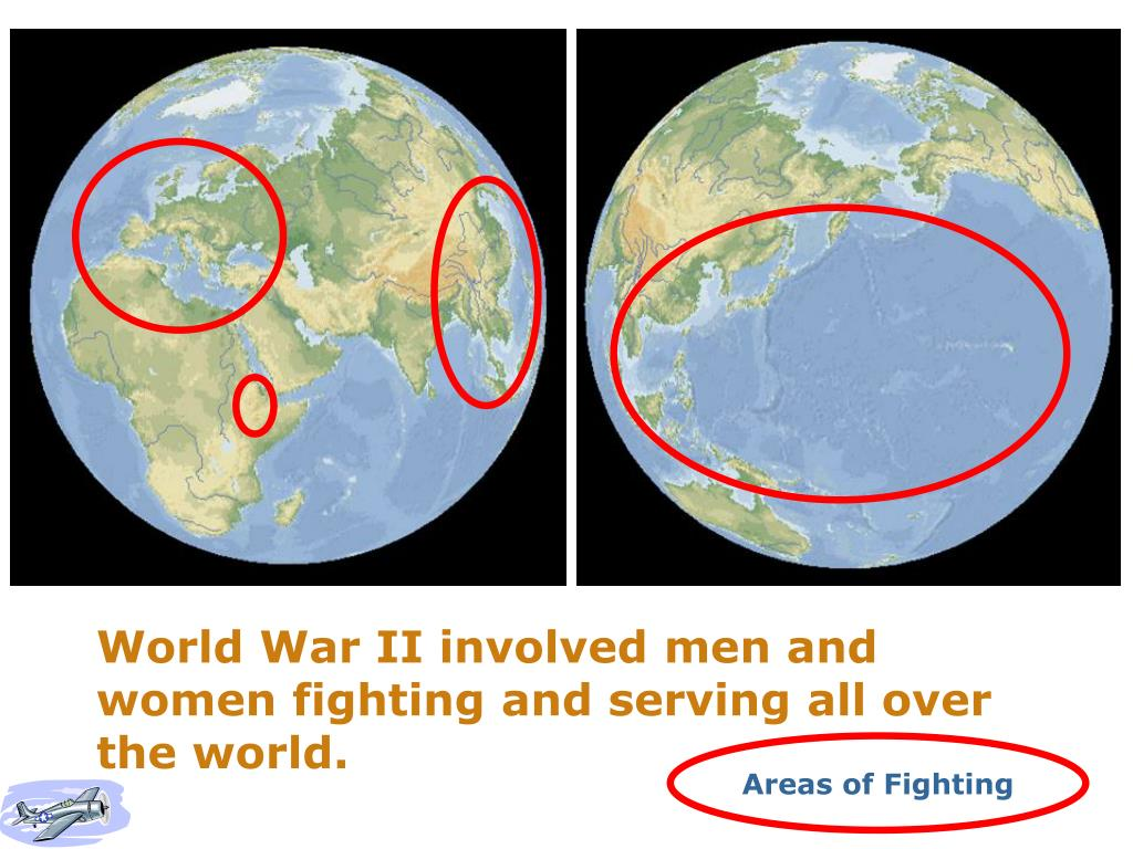 World War II involved men and women fighting and serving all over the world.