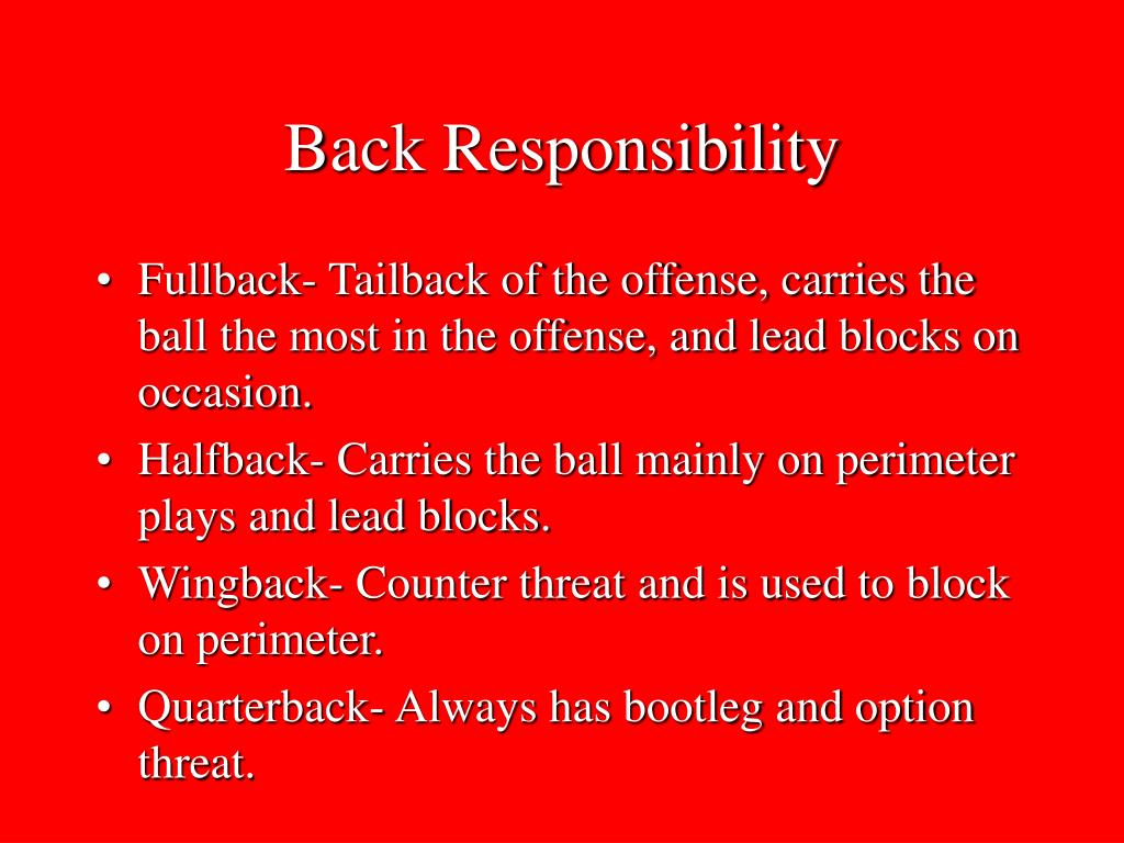 Back Responsibility