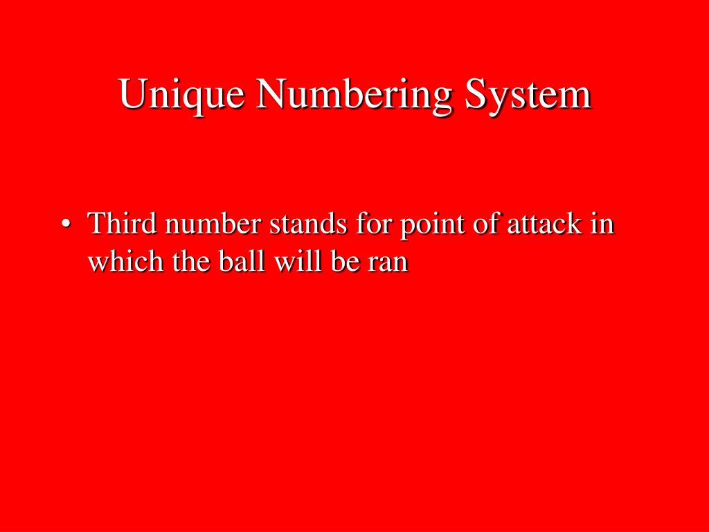 Unique Numbering System