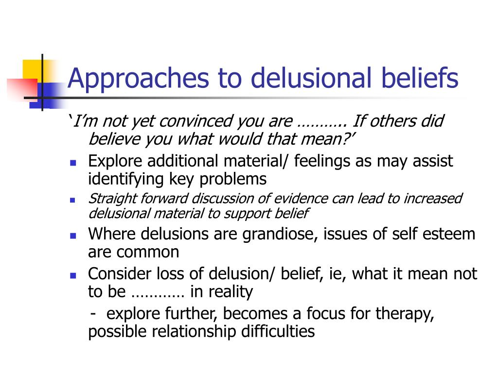 Approaches to delusional beliefs