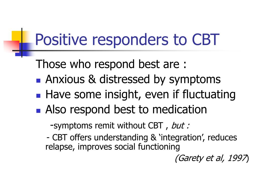 Positive responders to CBT