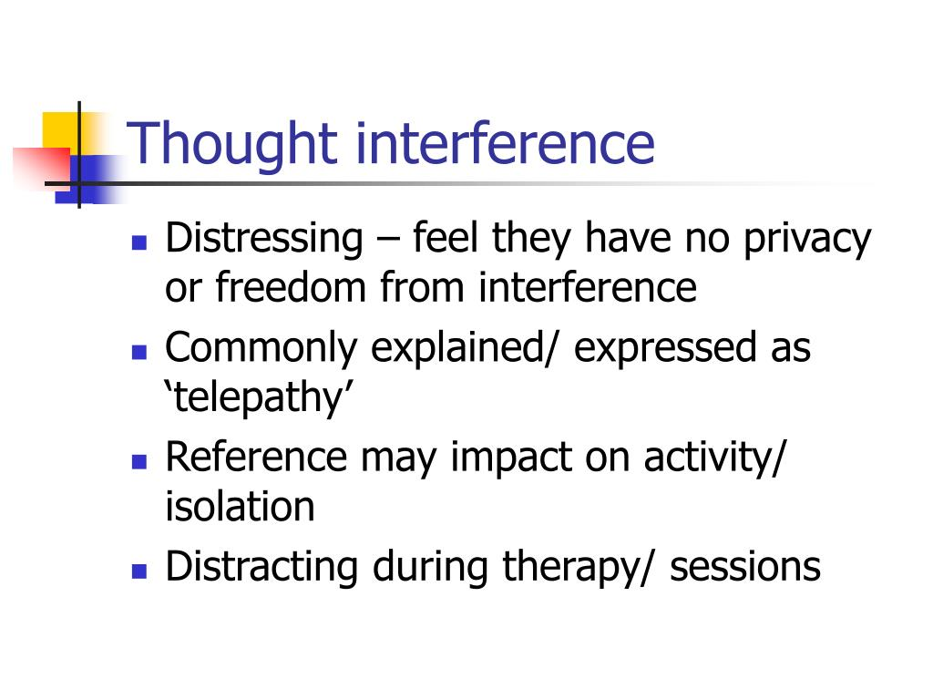 Thought interference