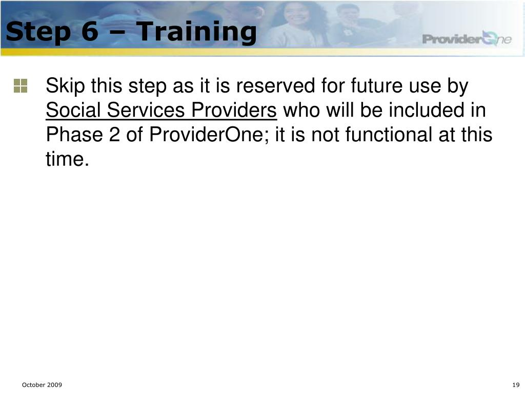 Step 6 – Training