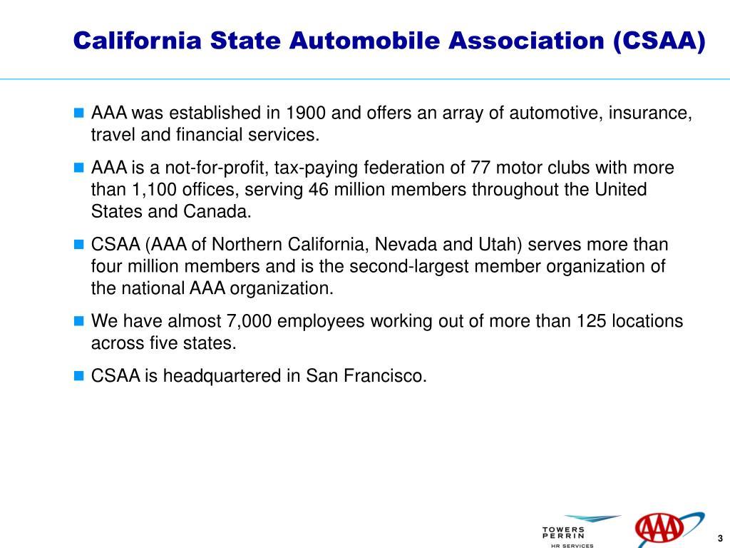 California State Automobile Association (CSAA)