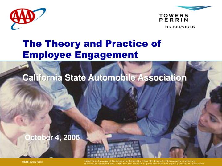 The theory and practice of employee engagement l.jpg