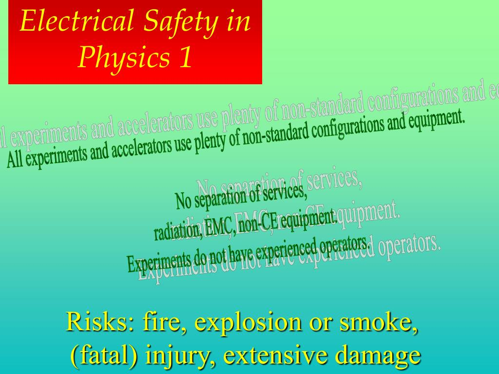 Electrical Safety in Physics 1