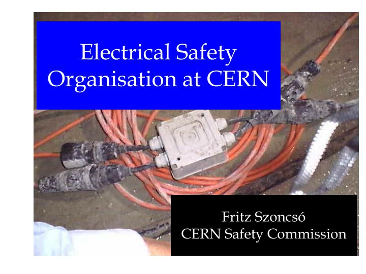 Electrical safety organisation at cern l.jpg