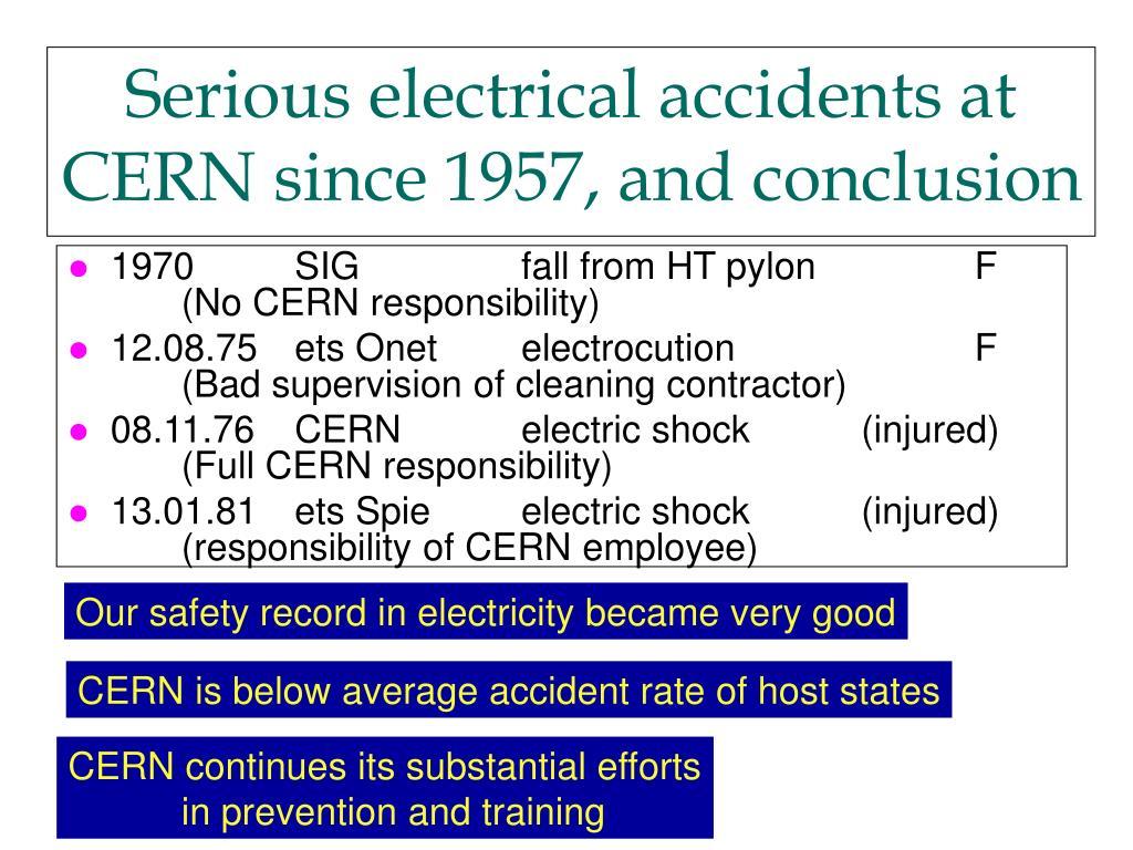 1970 SIG fall from HT pylon F(No CERN responsibility)