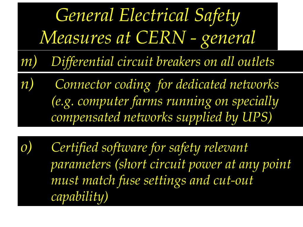 General Electrical Safety Measures at CERN - general