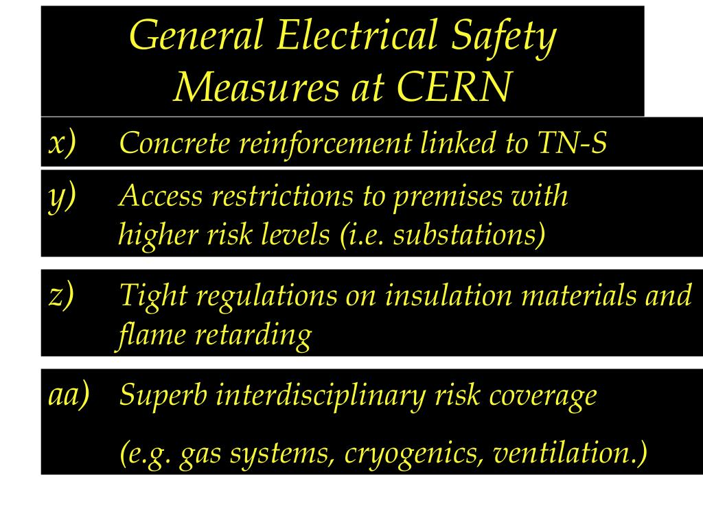 General Electrical Safety Measures at CERN
