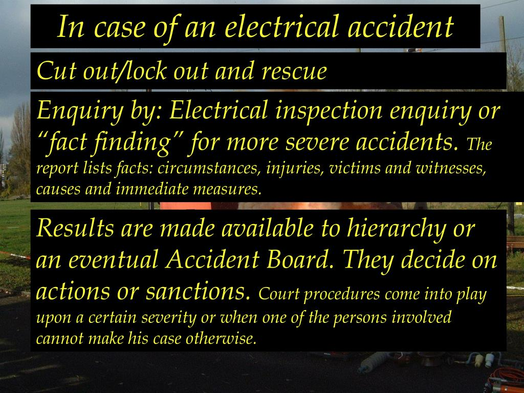 In case of an electrical accident