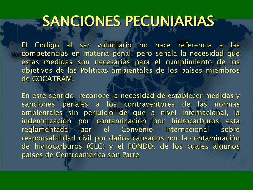 SANCIONES PECUNIARIAS