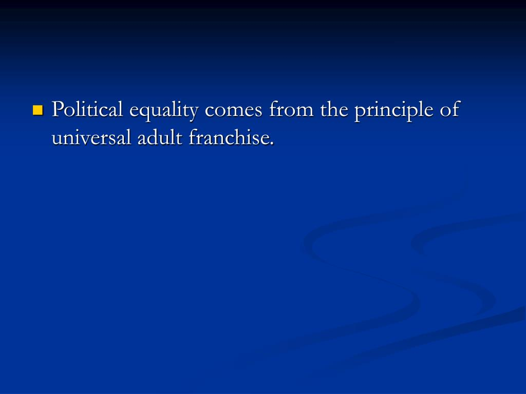 an analysis of the principles of equality in a democratic government Promoting disability rights in a democratic south africa  principles governing the functioning of national  the government of south africa has an international.
